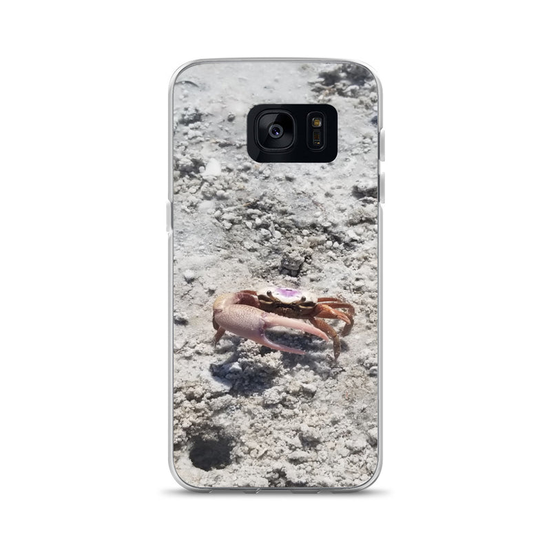 """Monsieur Crab"" Samsung Case-Phone Case-Tropical Scenery-Samsung Galaxy S7-Tropical Scenery"