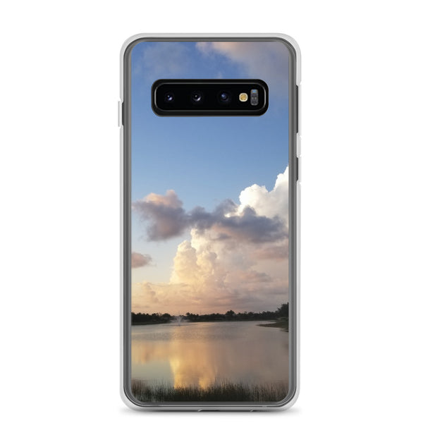 """Golden Haze"" Samsung Phone Case-Phone Case-Tropical Scenery-Samsung Galaxy S10-Tropical Scenery"