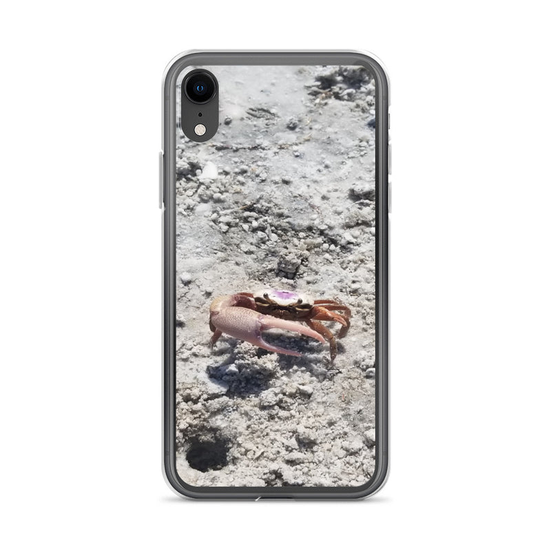 """Monsieur Crab"" iPhone Case-Phone Case-Tropical Scenery-iPhone XR-Tropical Scenery"