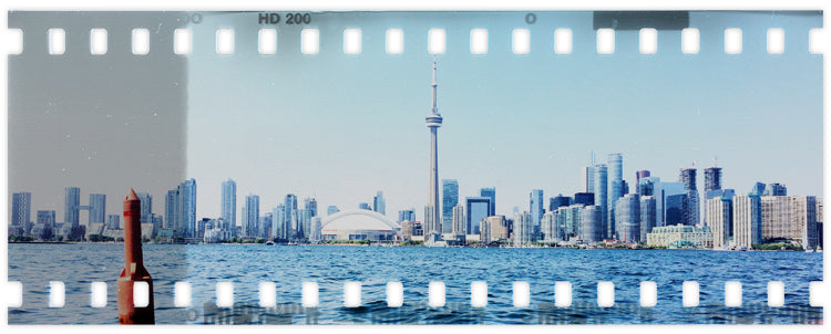 The skyline of Toronto, Canada.