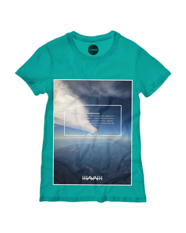 Alpine Edition Round-Neck Tee in Teal Green