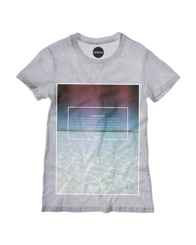 Crystalwater Edition Round-Neck Tee in Athletic Heather Grey