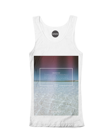 Crystalwater Edition Tank Top in White