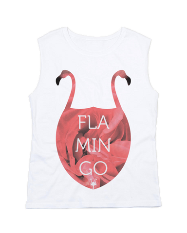 Flamingo Raw Tank Top