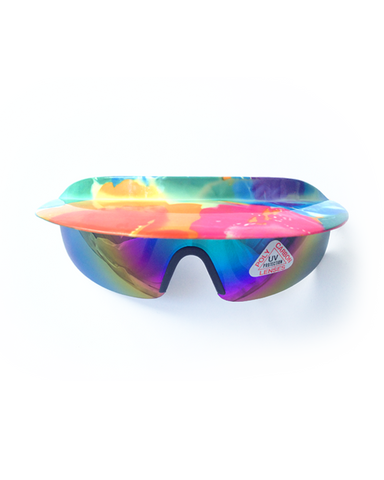 Flashy Floral Visor Sunglasses