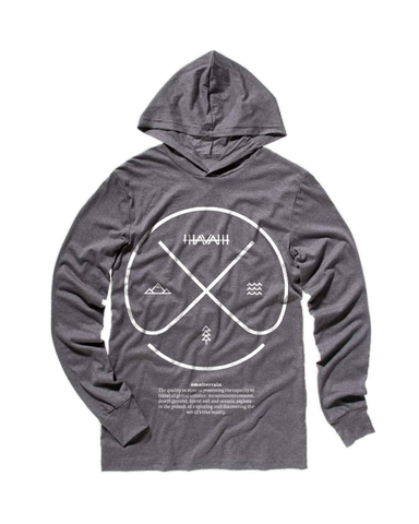 Long Sleeve Hoodie in Deep Heather Grey