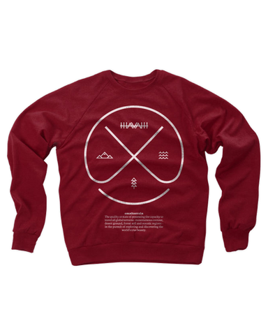 Omniterrain Definition Sweater in Deep Heather Red