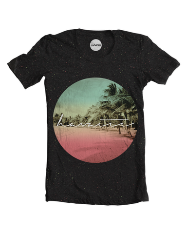 Palm Ave. Beach Speckled Tee