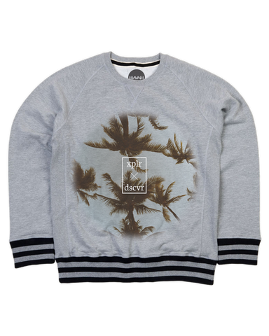 Palm Haven Striped Premium Sweater
