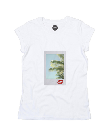 Paradise Love Rolled-Up Sleeve Tee