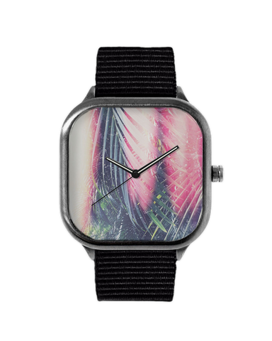 Psychedelic Palms Gunmetal Watch