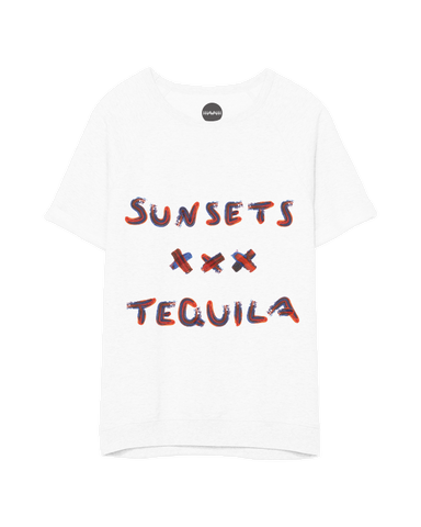 Sunsets & Tequila Short Sleeve Sweater