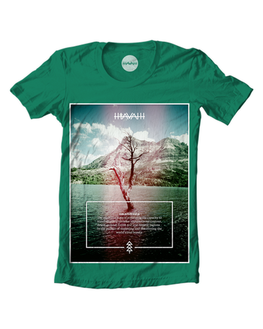 Watertree Edition Round-Neck Tee in Kelly Green
