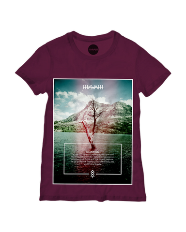 Watertree Edition Round-Neck Tee in Maroon Red