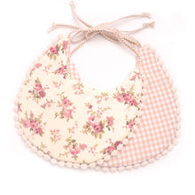 Load image into Gallery viewer, Double Sided Fashionable Checkered Lace Cotton Baby Bib