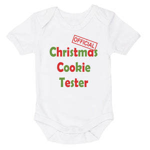 Official Christmas Cookie Tester | Christmas | Short Sleeve Baby Vest Bodysuit