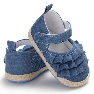 Ruffled Cute Soft First Walker Baby Girl Sandals Shoes