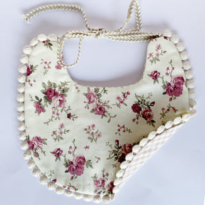 Double Sided Fashionable Checkered Lace Cotton Baby Bib