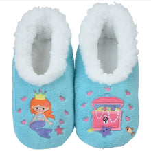 Load image into Gallery viewer, Snoozies Soft Anti Slip Unicorn Girls Shoes Socks Slippers