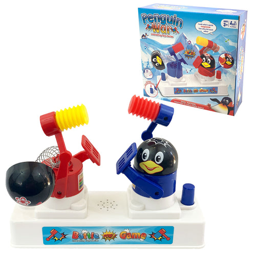 Penguin War Fun Kids Toddler Family Dodging Hammer Hitting Reflex Game