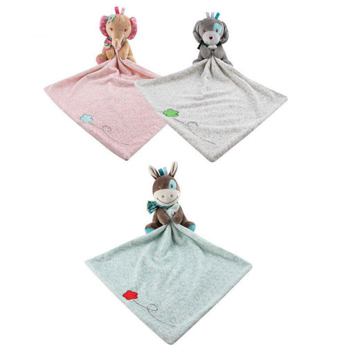 Soft Infant Baby Nursery Security Animal Blanket Lovey Toy Towel