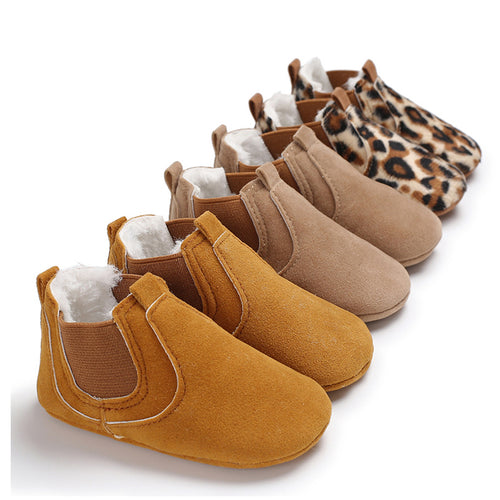 Leather Soft Sole Baby Girl Shoes Toddler Newborn Leopard First Walker
