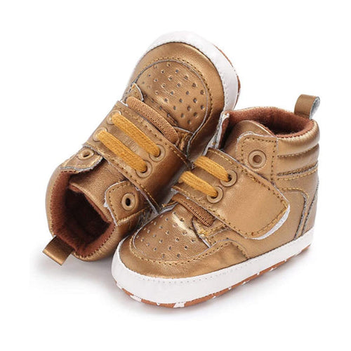 Trendy Winter Summer First Walker Baby Sneakers Shoes - Gold