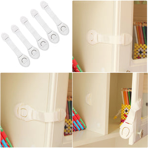 5 Piece Baby Safety Locks - White