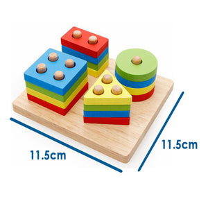 Geometric Educational Wooden Montessori Sorting Shapes Sorting Blocks Maze Puzzle Toy