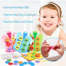 Load image into Gallery viewer, Shirts Lacing Buttons Colour Matching Kids Threading Beads Puzzle Toy