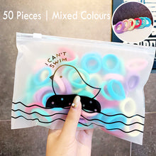 Load image into Gallery viewer, 50 Piece Ponytail Holders Elastic Hair Ties Accessories Girls Hair Bands