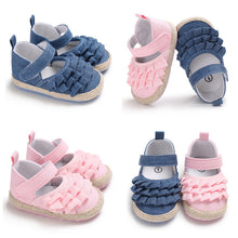 Load image into Gallery viewer, Ruffled Cute Soft First Walker Baby Girl Sandals Shoes
