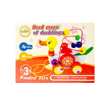 Load image into Gallery viewer, Wooden Educational Duck Wire Beads Maze Puzzle Pull Car Toy