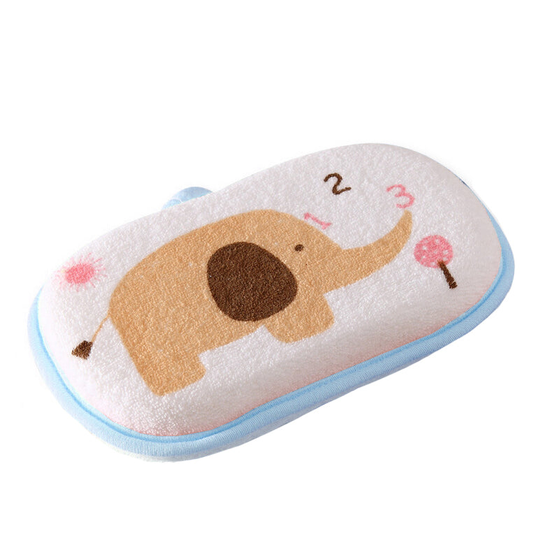 Baby Elephant Soft Bath Sponge Brush Scrubber Thick Wash Cloth