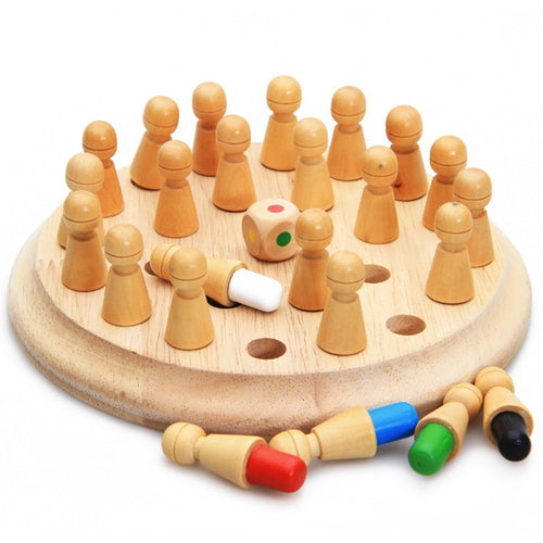 Family Fun Educational Wooden Memory Chess Match Stick Board Game