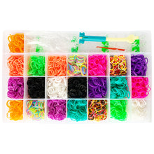 Load image into Gallery viewer, Rainbow Rubber Bands Bracelet Jewellery Making Kit Arts Crafts Set