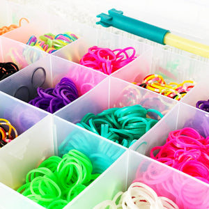 Rainbow Rubber Bands Bracelet Jewellery Making Kit Arts Crafts Set