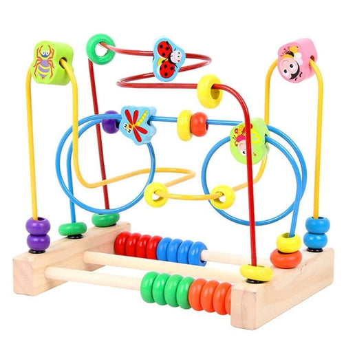 Wooden Educational Animal Wire Beads Maze Abacus Puzzle Toy