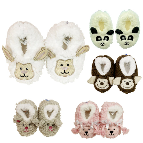 Snoozies for Babies Soft Anti Slip Animal Baby Shoes Socks Slippers
