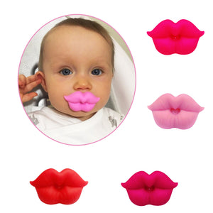 Cute Kiss Pacifier Baby Lips Mouth Soft Silicone Teether Dummy