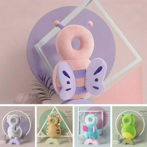 Cartoon Baby Head Safety Protection Pillow Helmet Backpack