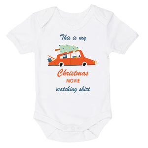 This Is My Christmas Movie Watching Shirt Car | Christmas Tree | Short Sleeve Baby Vest Bodysuit