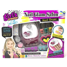 Load image into Gallery viewer, Glam Salon Fun Nail Polish Dryer Kit Girls Manicure Pedicure Glitter Set