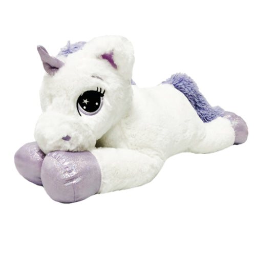 Soft and Fluffy Purple Fairytale Unicorn Plush Animal Toy 80cm