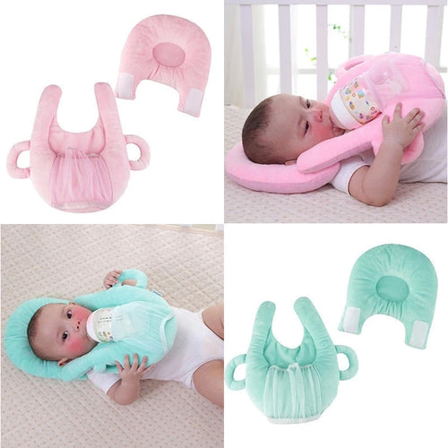 Self Feeding Baby Milk Bottle Support and Holder Pillow