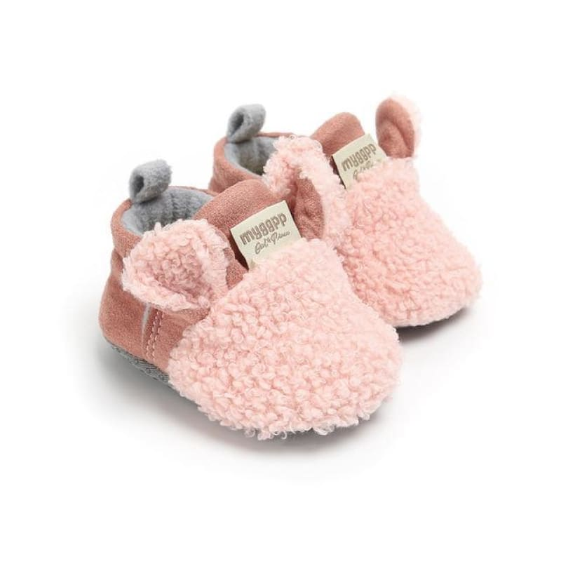 Comfortable First Walker Baby Sheep Ear Shoes - Pink / to 6 Months - Baby Shoes