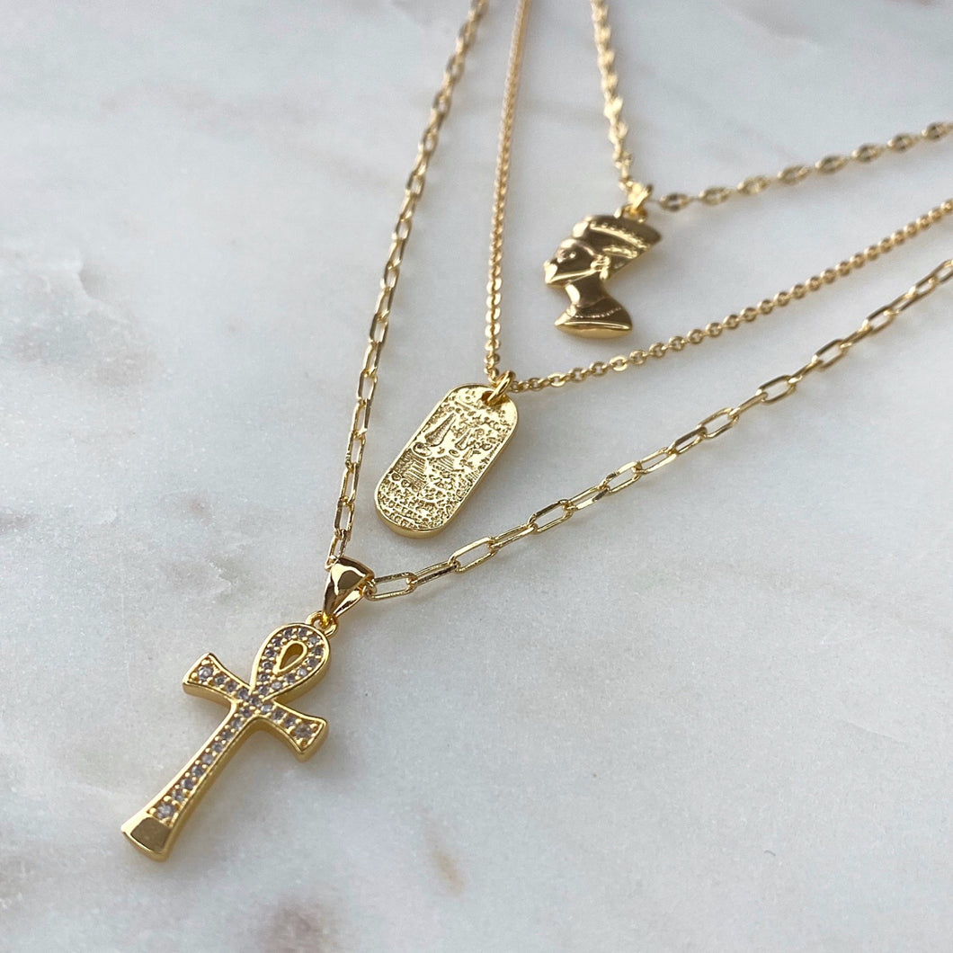 The Egyptian Trio Necklace