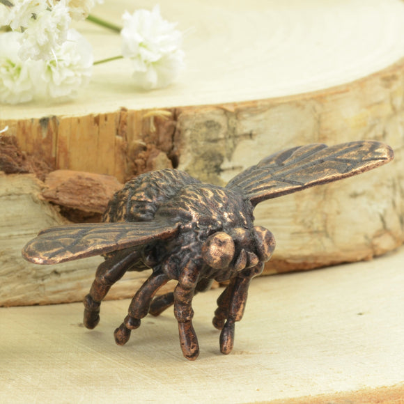 Bumblebee - bronze insect sculpture by David Meredith