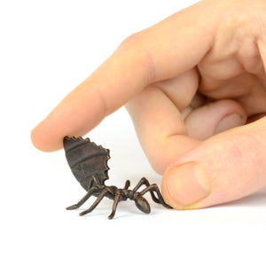 Leaf cutter ant - bronze (not quite miniature!) sculpture by David Meredith