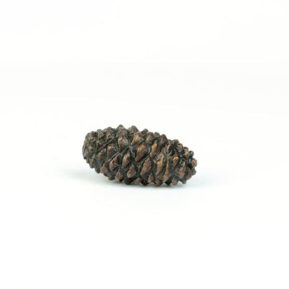 Pine cone - autumnal themed miniature bronze sculpture by David Meredith